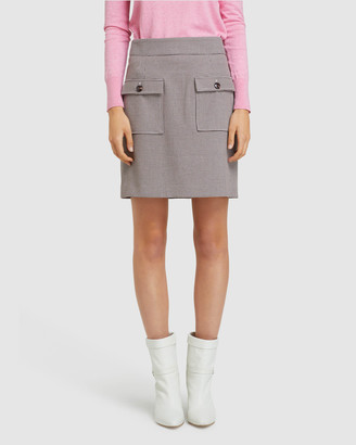 Oxford Women's Pencil skirts - Alina Check Crop Skirt - Size One Size, 6 at The Iconic