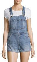 Joe's Jeans TAYLOR HILL x Cece Raw Cuff-Hem Denim Shortalls