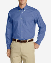 Eddie Bauer Men's Wrinkle-Free Relaxed Fit Pinpoint Oxford Shirt - Solid Long-Sleeve