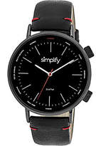 Simplify Black Strap Watch