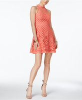 Jessica Simpson Illusion Lace Fit & Flare Dress
