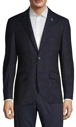 Tailorbyrd Patterned Notch Lapel Sportcoat