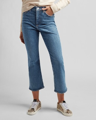 Express High Waisted Cropped Flare Jeans