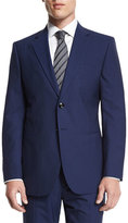 Giorgio Armani Taylor Striped Two-Piece Wool Suit, Navy