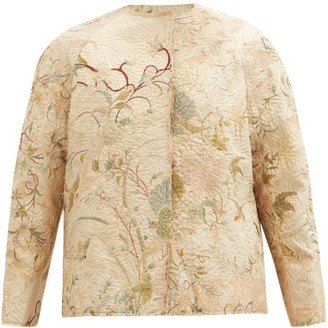 By Walid Ilana 19th-century Chinese Embroidered Silk Jacket - Beige Multi