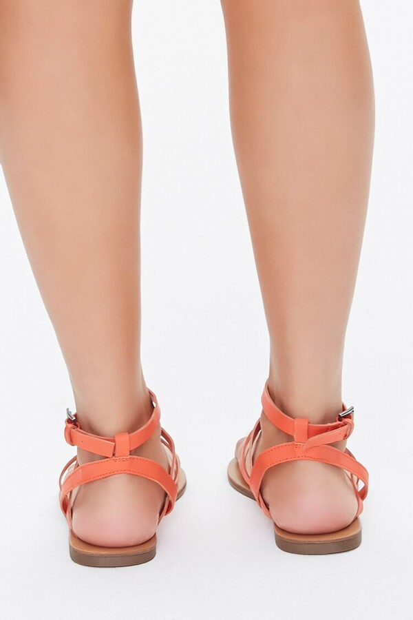 Thumbnail for your product : Forever 21 Caged Ankle-Strap Flat Sandals