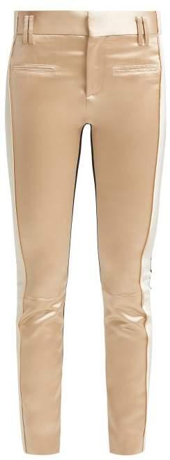 Haider Ackermann Picea Satin And Velvet Trousers - Womens - Cream Multi