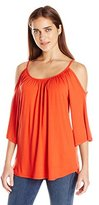 Karen Kane Women's Cold Shoulder Top
