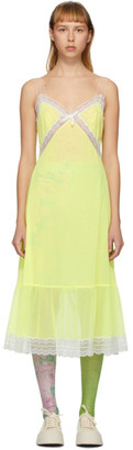 Marc Jacobs Yellow The Maxi Slip Dress