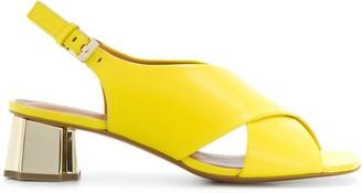 Clergerie Laora cross strap sandals