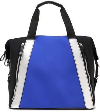 Monreal London Metallic Leather-trimmed Scuba Gym Bag