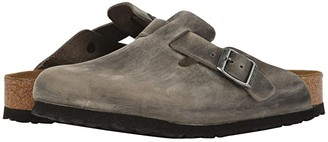 Birkenstock Boston Soft Footbed (Iron Oiled Leather) Clog Shoes