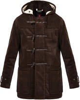 Gloverall Sherpa Brown Cord Duffle Coat