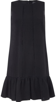 Adrianna Papell Knit Crepe Drop Waist Shift Dress