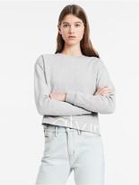 Calvin Klein Cropped Logo Terry Sweatshirt