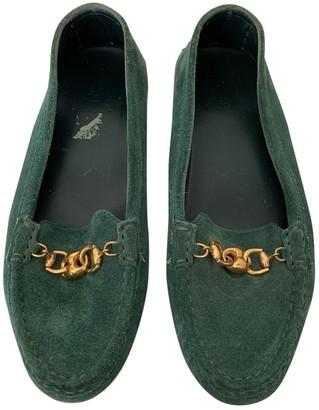 Gucci Green Suede Flats
