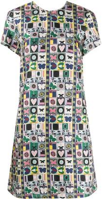 La DoubleJ Floral Print Mini Dress