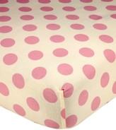 Carter's Jungle 100% Cotton Dot-Print Fitted Crib Sheet