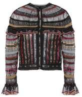 Alexander McQueen Metallic silk-blend cardigan