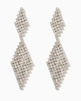 Charming charlie Diamond Kite Drop Earrings