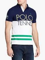 Polo Ralph Lauren Wimbledon Stretch Mesh Slim Fit Polo Shirt, French Navy Multi