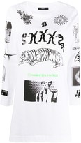 Diesel zip sleeve graphic T-shirt