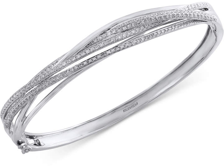 Effy Pave Classica by Diamond Bangle (1 ct. t.w.) in 14k White Gold