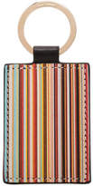 Paul Smith Leather Multistripe Printed Key Ring