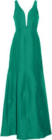 Halston Cotton and silk-blend gown