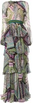DSQUARED2 floral-print layered maxi dress