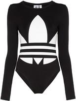adidas trefoil logo print bodysuit