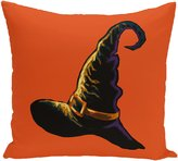 E By Design PHN348OR12-18 Witchcraft Holiday Print Pillow, 18-Inch X 18-Inch