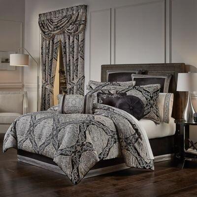 Black Jacquard Comforter The, J Queen New York Bedding Kingsgate