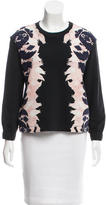 Mother of Pearl Silk-Blend Printed Sweatshirt