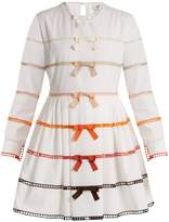 Fendi Long-sleeved bow-trimmed cotton dress