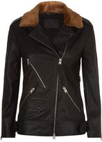 AllSaints Sherwood Leather Biker Jacket