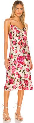 L'Agence Nyla Cowl Neck Midi Slip Dress