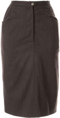 Chanel Pre Owned Slim-Fit Knee-Length Skirt