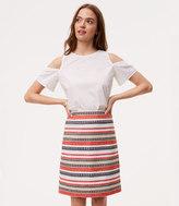 LOFT Costa Jacquard Shift Skirt