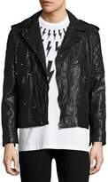 Neil Barrett Studded Leather Biker Jacket, Black