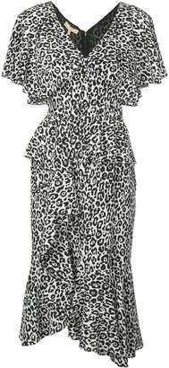 Michael Kors leopard print ruffled dress