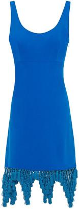 Emilio Pucci Macrame-trimmed Crepe Dress