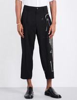 Yohji Yamamoto Wide-leg wool trousers