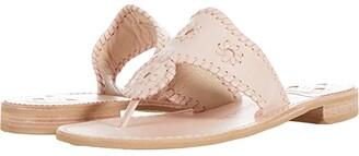 Jack Rogers Jacks Natural Flat Sandal (Oak) Women's Shoes
