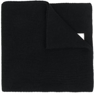 Emporio Armani Ribbed Knit Scarf
