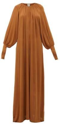 Totême Anville Fine-knit Maxi Dress - Womens - Light Brown