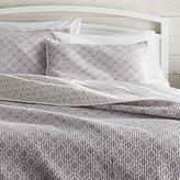 Crate & Barrel Raj Reversible Purple Quilts and Pillow Shams