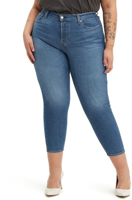 Levi's Plus Size Wedgie Fit Skinny Crop Jeans