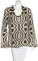 Tory Burch Embellished Print Blouse