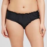 Xhilaration Women's Plus Size Ruffle Edge Hipster Bikini Bottom